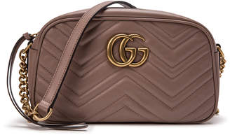 Gucci Marmont Camera Bag Matelasse Mini Dusty Pink