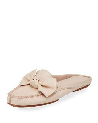 kate spade new york Mallory Bow Flat Mule Loafer, Blush $218 thestylecure.com