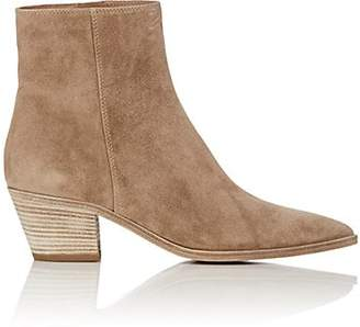 Gianvito Rossi Women's Suede Ankle Boots - Beige, Tan