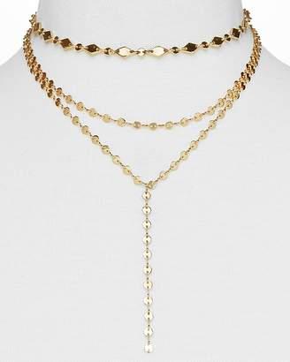 "BaubleBar Aimee Y Choker Necklace, 12"""
