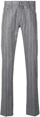 Jacob Cohen striped straight leg jeans