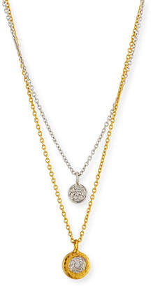 Gurhan Delicate Diamond Pavé Double-Strand Pendant Necklace