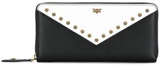 Pinko studded logo wallet