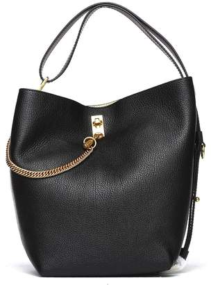 Givenchy Bucket Bag In Black Leather With Strap