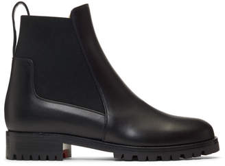 Christian Louboutin Black Marchacroche Flat Boots