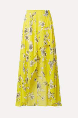 Alice + Olivia Kirstie Wrap-effect Floral-print Chiffon Maxi Skirt