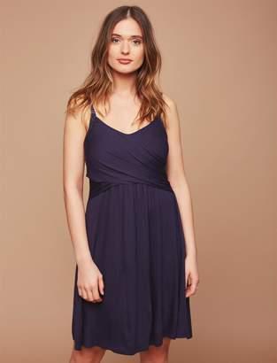 Motherhood Maternity Clip Down Twist Front Nursing Nightgown