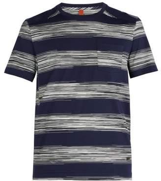 Missoni - Striped Cotton T Shirt - Mens - Navy White