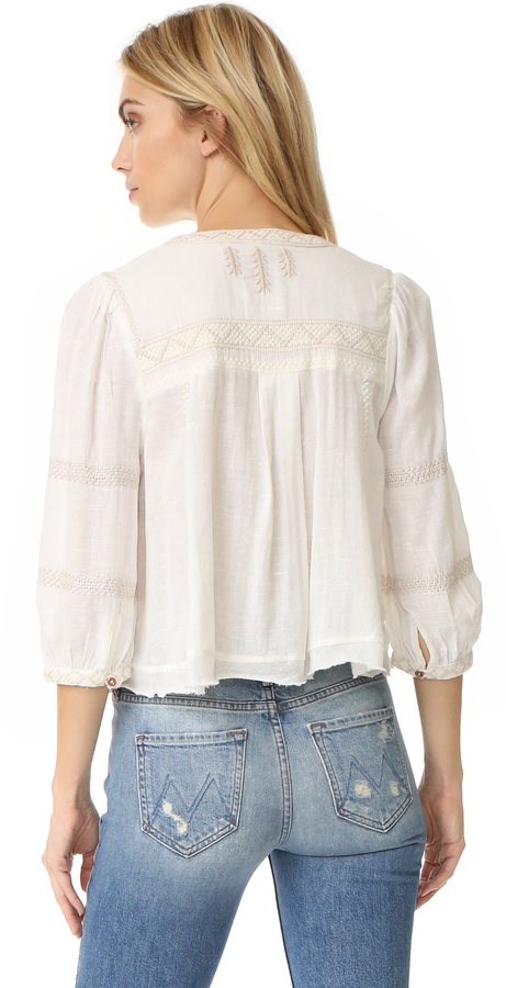Free People The Wild Life Embroidered Top 5