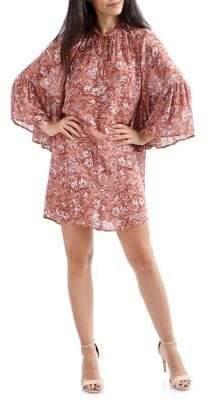 Lucky Brand Bell-Sleeve Self-Tie Floral Dress
