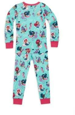 Hatley Toddler's, Little Girl's& Girl's Two-Piece Mermaid Pajama Set