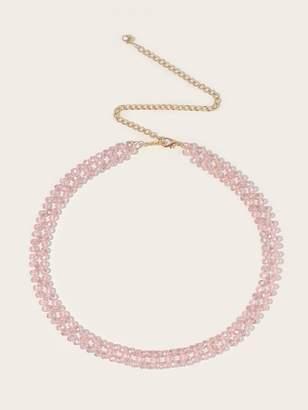 Shein Rhinestone Design Waist Chain