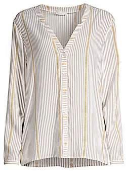 Hanro Women's Sleep & Lounge Woven Long-Sleeve Shirt