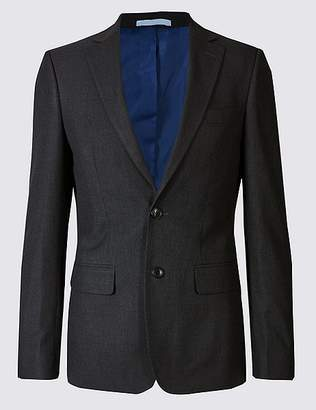 Marks and Spencer Charcoal Textured Slim Fit Jacket