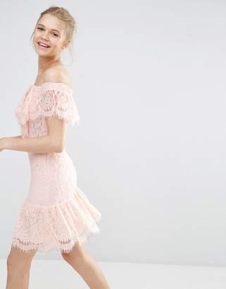 Endless Rose Lace Off The Shoulder Dress
