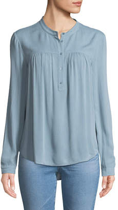 AG Jeans Jess Quarter-Placket Long-Sleeve Shirt