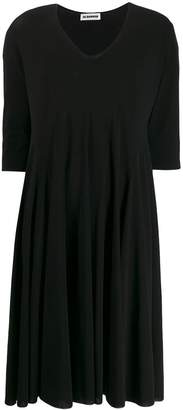 Jil Sander V-neck loose fit dress