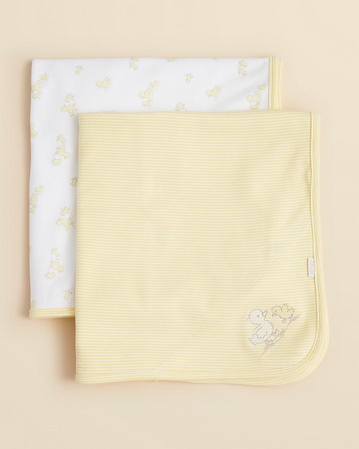 "Little Me Infant Unisex Ducks Receiving Blankets 2 Pack - 30"" x 30"""