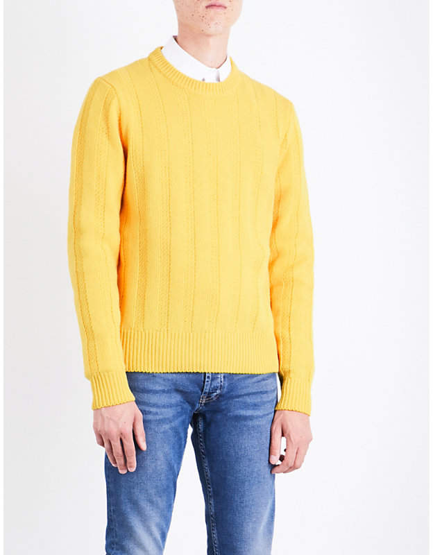 Sandro Drop-shoulder ribbed wool jumper