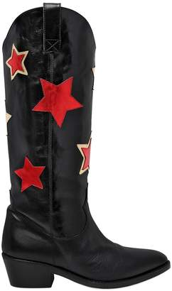 Chiara Ferragni 50mm Stars Leather Boots