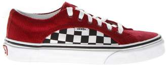 Vans Red Check Suede & Mesh Sneakers