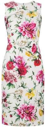 Dolce & Gabbana sleeveless floral brocade dress