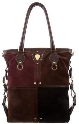 Etro Suede and Leather Shoulder Bag