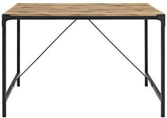 Walker Edison 48 Angle Iron Wood Dining Table
