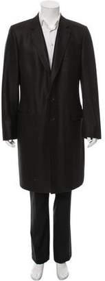 Dolce & Gabbana Virgin Wool Herringbone Overcoat