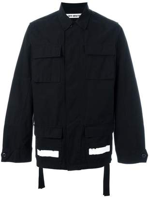 Off-White striped logo print jacket