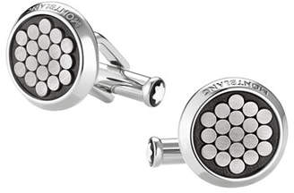 Montblanc Cut-Wire Design-Inlay Round Cuff Links