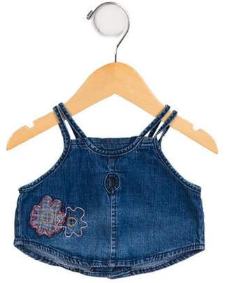 Ikks Girls' Sleeveless Denim Top