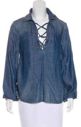 Frame Long Sleeve Denim Top