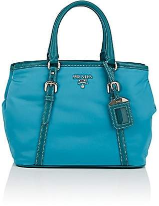 Prada WOMEN'S LADY LEATHER-TRIMMED BAG