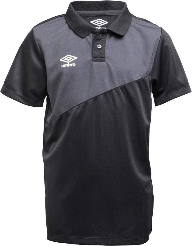 Junior Boys Teamwear Poly Training Polo Black/Carbon