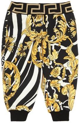 Versace BAROQUE PRINTED COTTON SWEATPANTS
