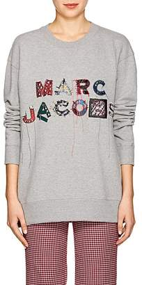 Marc Jacobs Women's Logo-Embroidered Cotton Terry Sweatshirt