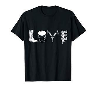 Barrel Racing LOVE Shirt Tee T-Shirt