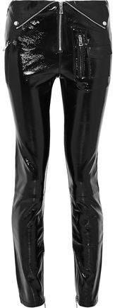 Patent-Leather Skinny Pants