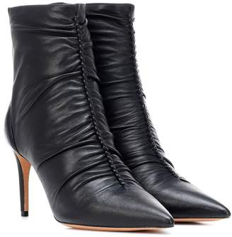 Alexandre Birman Susanna 85 leather ankle boots