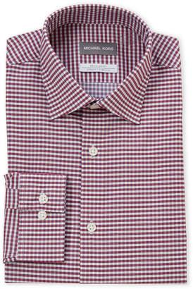 Michael Kors Cabernet Check Non-Iron Regular Fit Dress Shirt