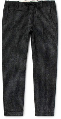 MAN 1924 Charcoal Houndstooth Harris Tweed Drawstring Suit Trousers