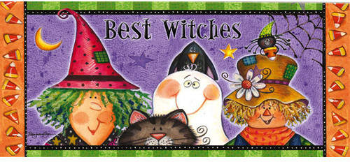 The Holiday Aisle New Best Witches Sassafras Doormat