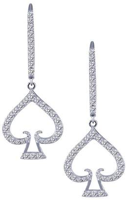 Lafonn Platinum Over Sterling Silver Simulated Diamond Micro Pave As Poker Earrings