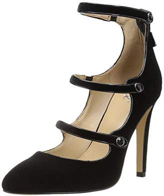The Fix Women's Maya Pointed-Toe Military-Inspired Strap Pump With Decorative Jewels