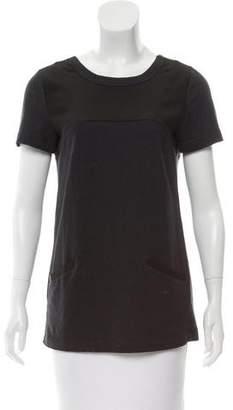 Marni Silk-Paneled Short Sleeve Top