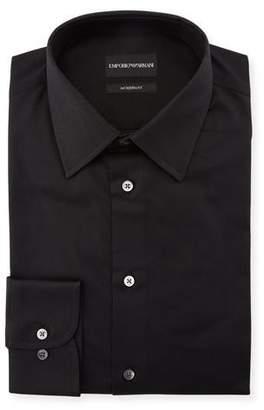 Emporio Armani Men's Modern-Fit Cotton-Stretch Dress Shirt, Black