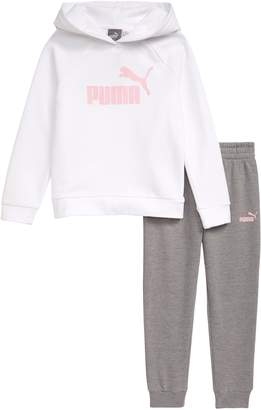 Puma Fleece Hoodie & Jogger Pants Set