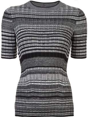 Helmut Lang striped knitted top