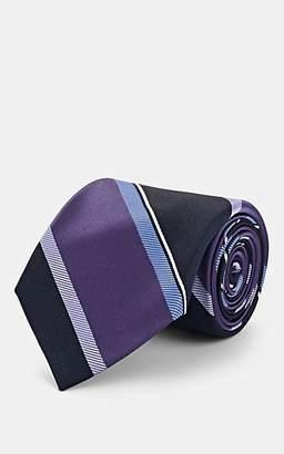 Fairfax Men's Striped Silk Jacquard Necktie - Lt. Purple